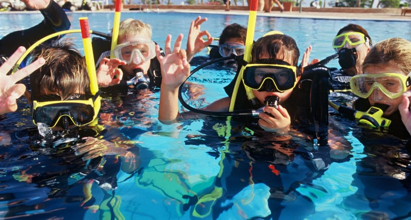Corso sub per bambini a Lampedusa Bubblemaker
